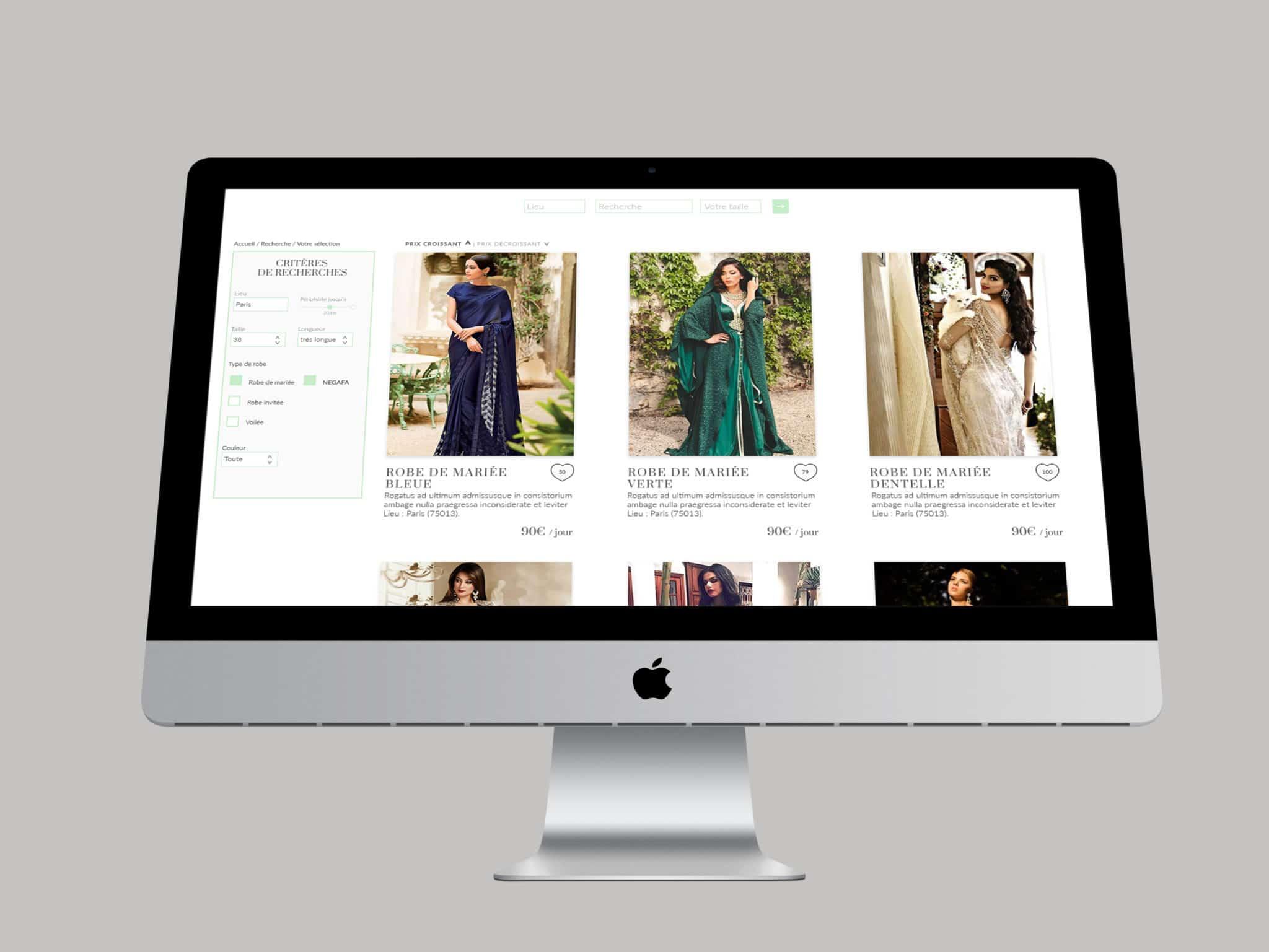 """image de mise en situation de la page """"recherche"""" du site web de KO-tli-KO, dans un écran d'ordinateur"""