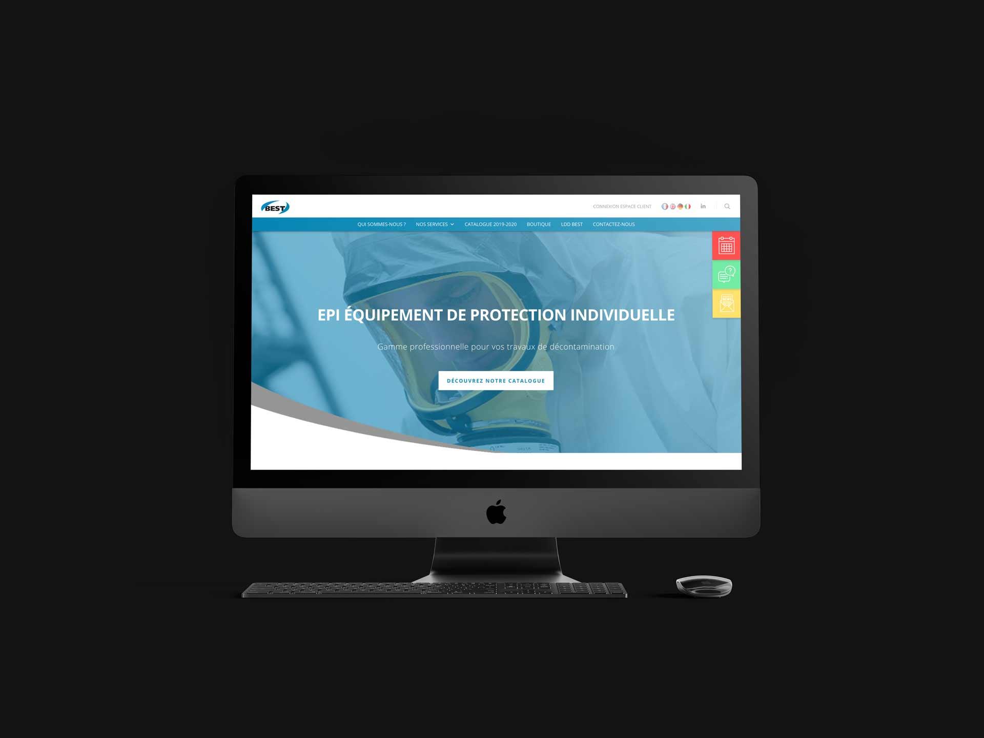 image de mise en situation du site web de BEST dans un écran d'ordinateur